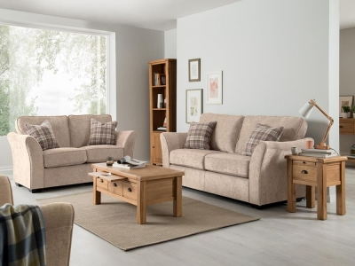 Vida Living Arran 2 Seater Fabric Sofa - Stone