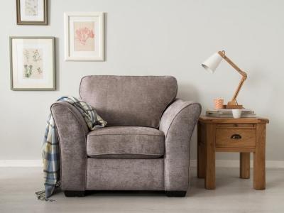 Vida Living Arran Fabric Armchair - Grey