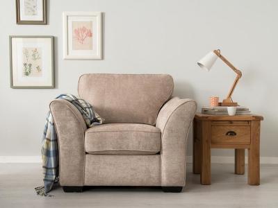 Vida Living Arran Fabric Armchair - Stone