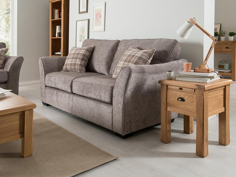Vida Living Arran 3 Seater Fabric Sofa - Grey