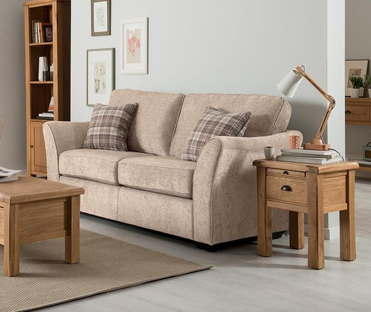 Vida Living Arran 3 Seater Fabric Sofa - Stone