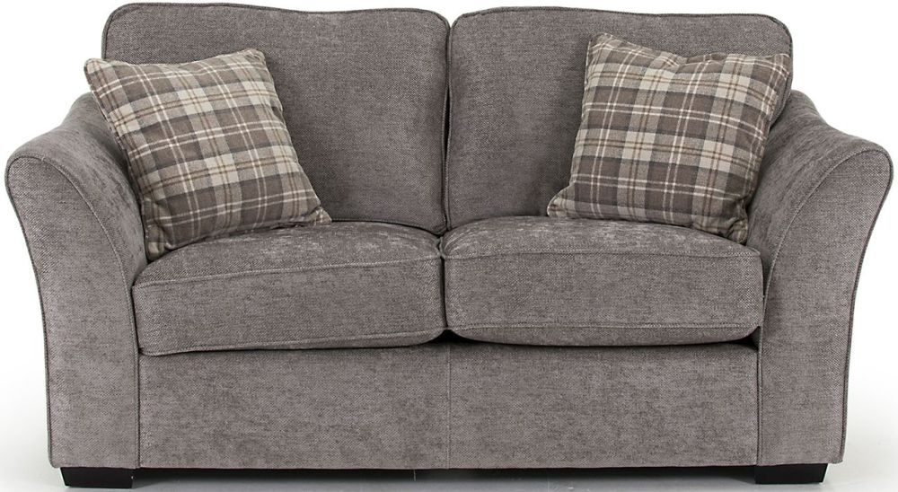 Vida Living Arran Grey 2 Seater Fabric Sofa