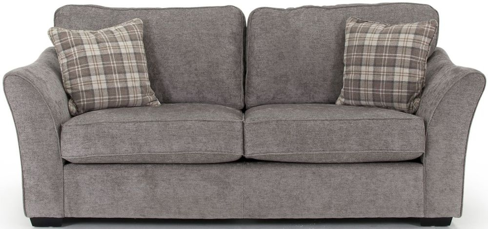 Vida Living Arran Grey 3 Seater Fabric Sofa