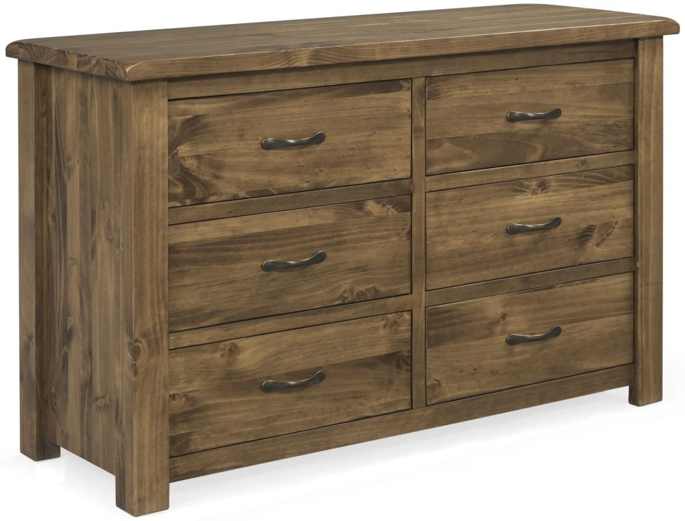 Vida Living Ashbury Pine 6 Drawer Dressing Chest