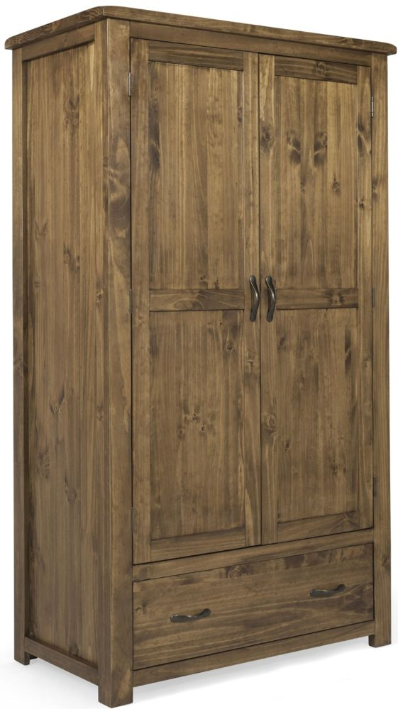 Vida Living Ashbury Pine 2 Door 1 Drawer Double Wardrobe
