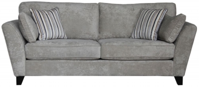 Vida Living Aspen 3 Seater Fabric Sofa - Parchment