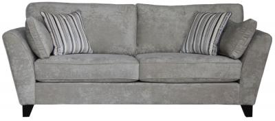 Vida Living Aspen 3 Seater Fabric Sofa - Parchment
