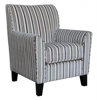 Vida Living Aspen Accent Fabric Armchair - Striped