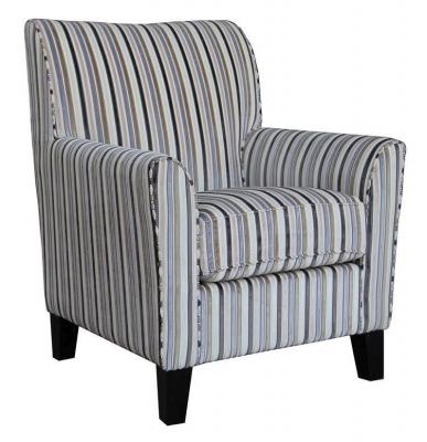 Vida Living Aspen Accent Fabric Armchair - Striped