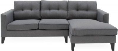 Vida Living Astrid Charcoal Fabric Right Hand Facing Corner Sofa