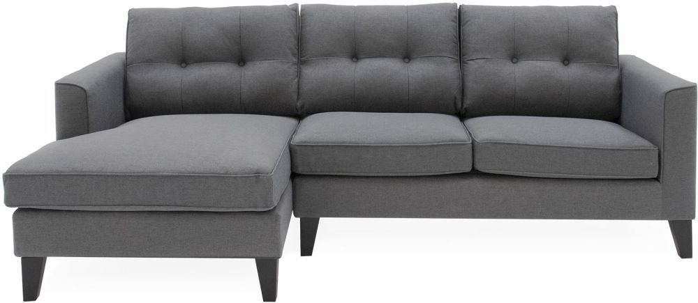 Vida Living Astrid Left Corner Group Sofa - Charcoal Fabric