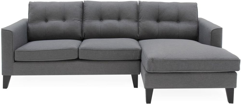 Vida Living Astrid Right Corner Group Sofa - Charcoal Fabric