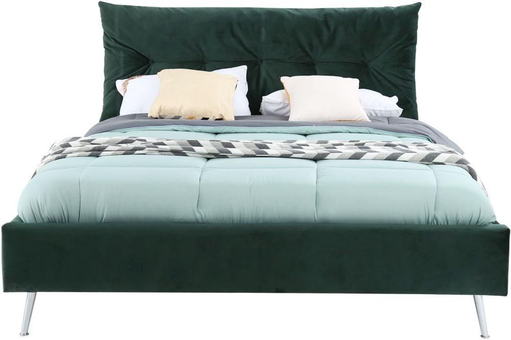Vida Living Avery Green Velvet Bed