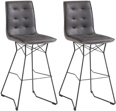Vida Living Mirko Grey Bar Chair (Pair)