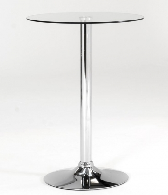 Vida Living Bistro Glass Top Round Table