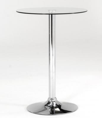 Vida Living Bistro Glass Top Round Table