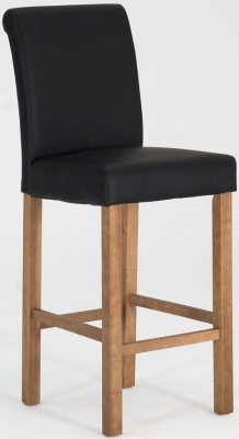 Vida Living Carlton Black Bar Stool