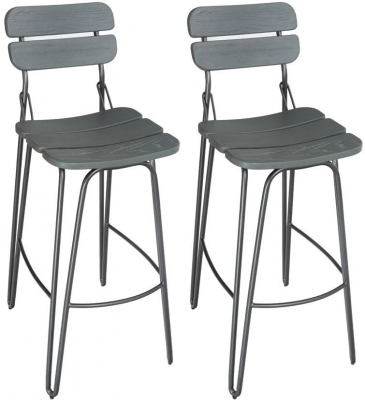 Vida Living Delta Grey Elm Bar Chair (Pair)