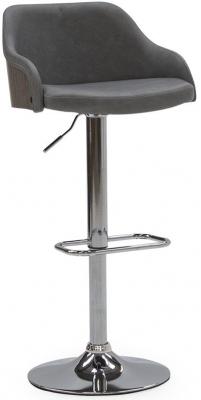 Vida Living Fossil Grey PU Bar Chair with Gas Lift