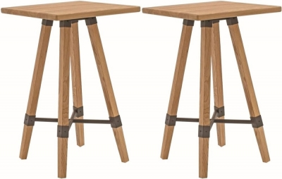 Vida Living Hunter Natural Elm Square Bar Table (Pair)