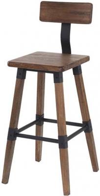 Vida Living Hunter Rustic Elm Bar Chair