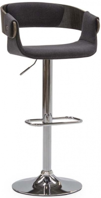 Vida Living Rita Charcoal Fabric Bar Chair with Gas Lift