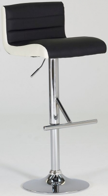 Vida Living Viva Leather Bar Stool - Black
