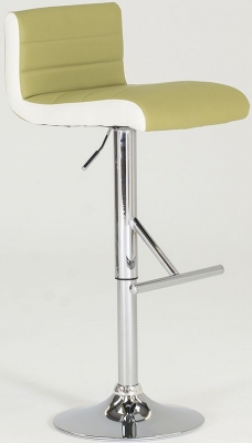 Vida Living Viva Leather Bar Stool - Lime