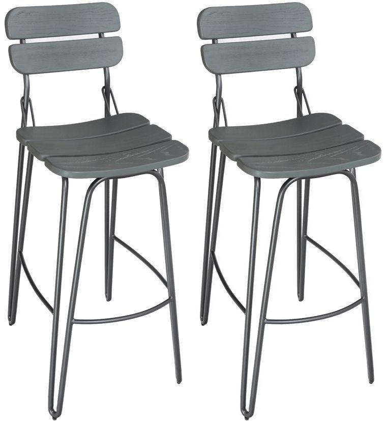 Vida Living Delta Grey Bar Chair (Pair)