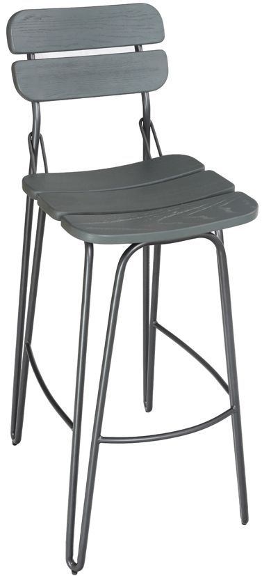 Vida Living Delta Grey Bar Chair