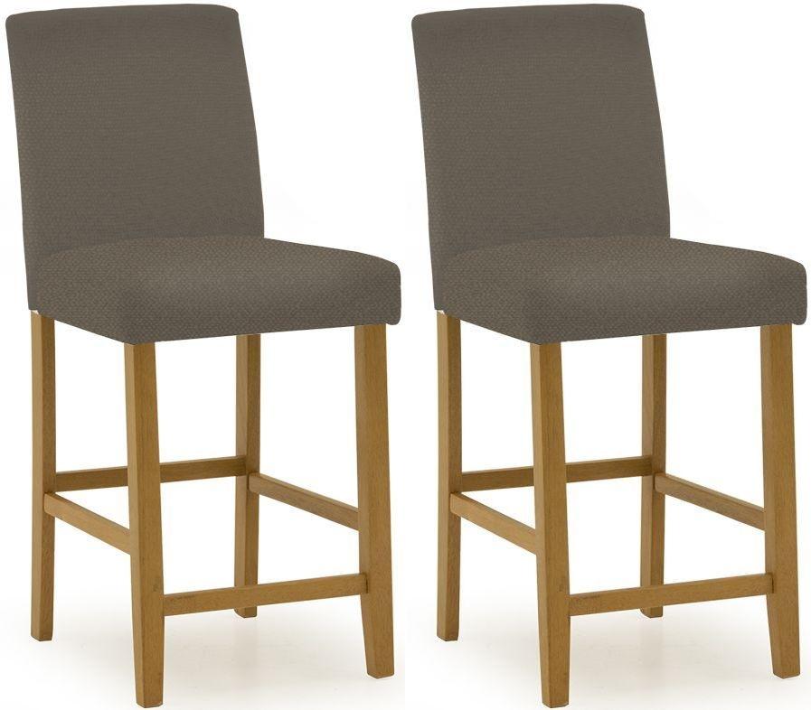 Vida Living Evelyn Bar Chair (Pair) - Cappucino Faux Leather