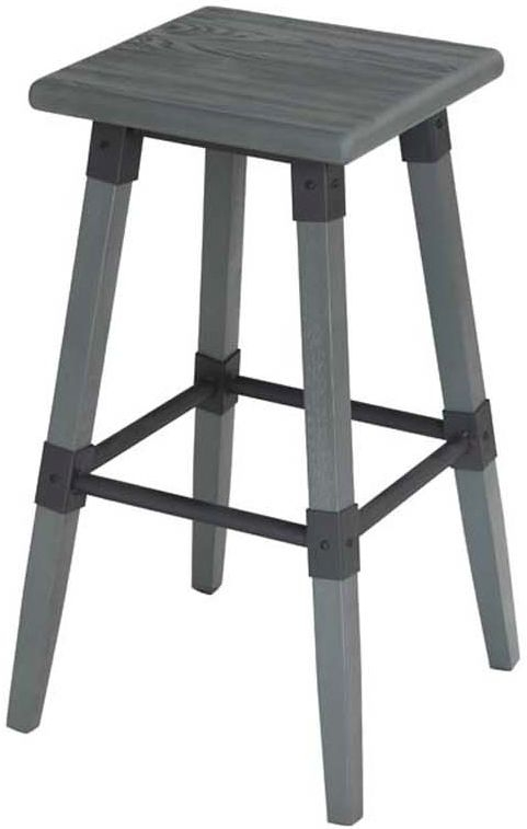 Vida Living Lock Grey Elm Bar Stool