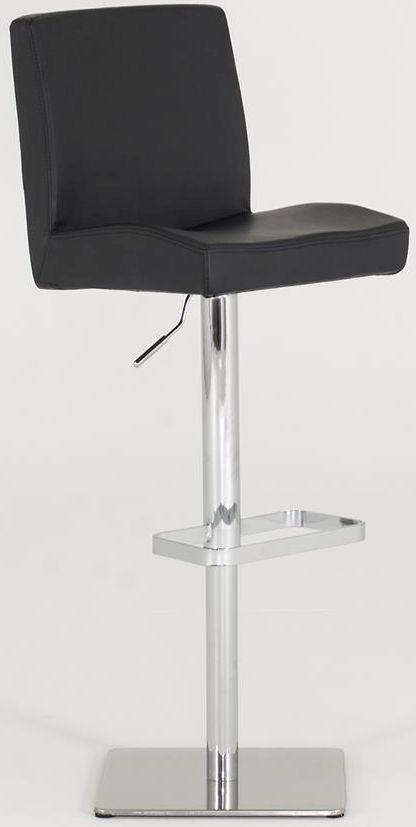 Vida Living Mya Black Leather Bar Chair