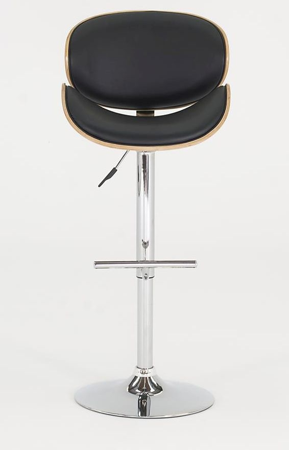 Vida Living Rocco Black Leather Bar Stool
