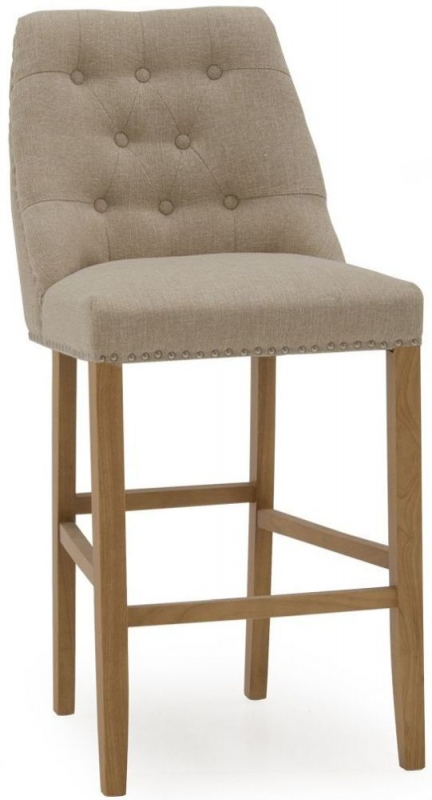 Vida Living Eldridge Linen Beige Bar Chair