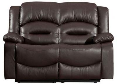 Vida Living Barletto Brown Leather 2 Seater Fixed Sofa
