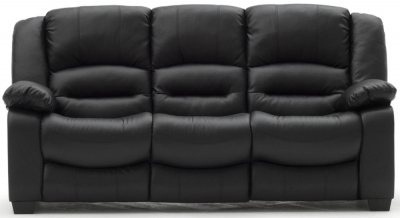 Vida Living Barletto Black Faux Leather 3 Seater Sofa