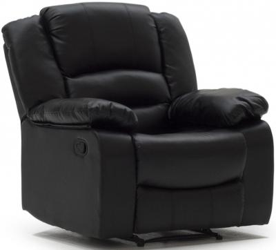 Vida Living Barletto Black Leather Recliner Armchair