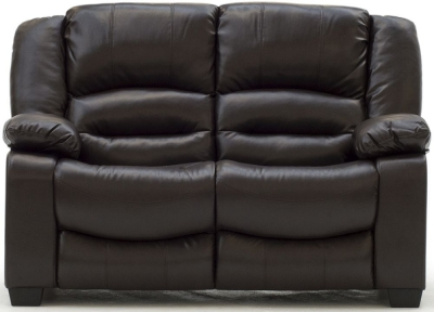 Vida Living Barletto Brown Faux Leather 2 Seater Sofa