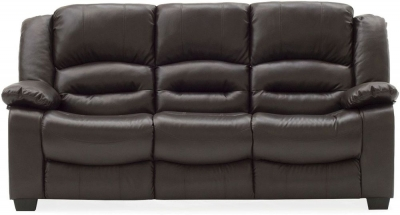 Vida Living Barletto Brown Faux Leather 3 Seater Sofa