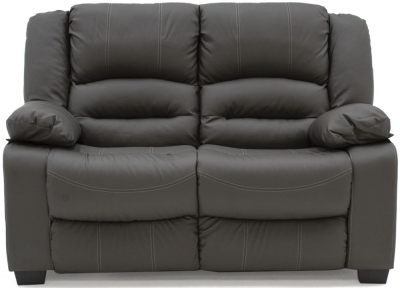 Vida Living Barletto Grey Faux Leather 2 Seater Fixed Sofa
