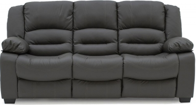 Vida Living Barletto Grey Faux Leather 3 Seater Sofa