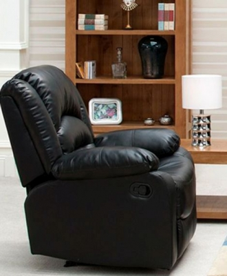 Vida Living Barletto Leather Recliner Armchair - Black