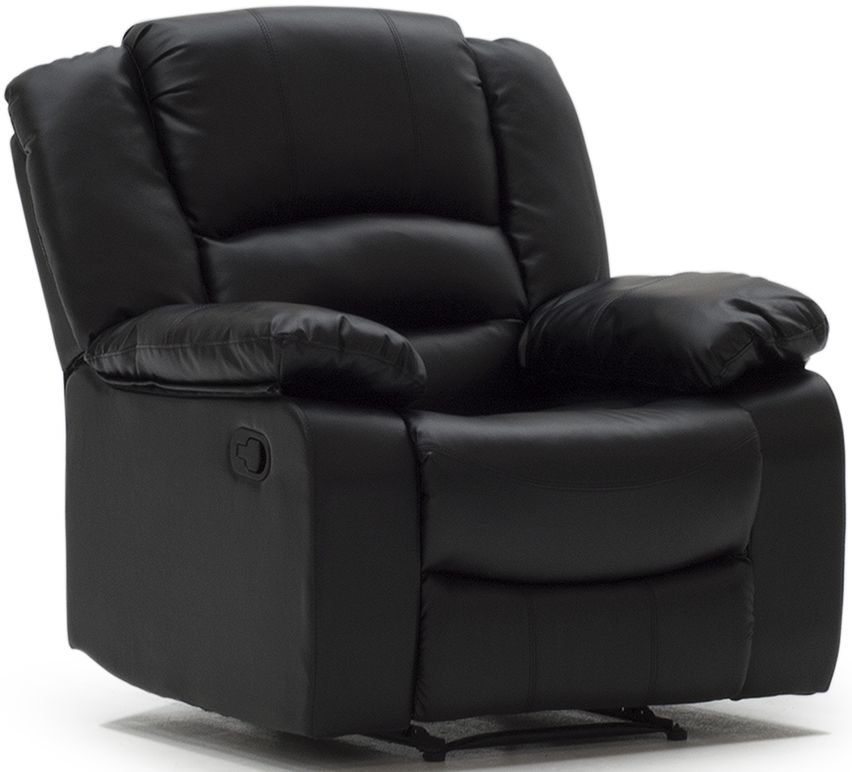 Vida Living Barletto Black Faux Leather Recliner Chair