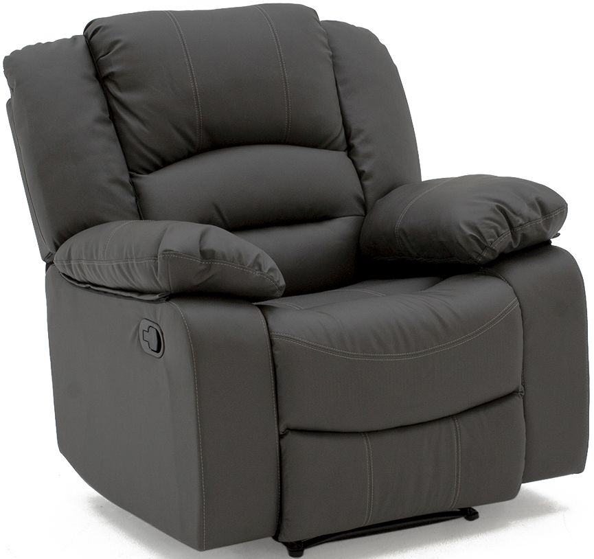 Vida Living Barletto Grey Faux Leather 1 Seater Recliner Chair