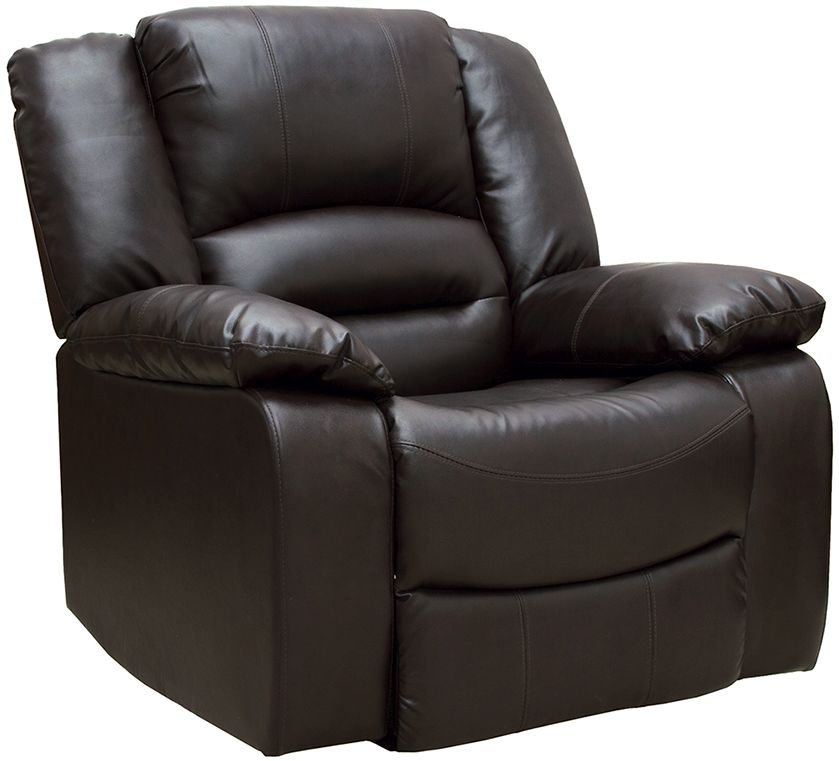 Vida Living Barletto Leather Brown Recliner Armchair