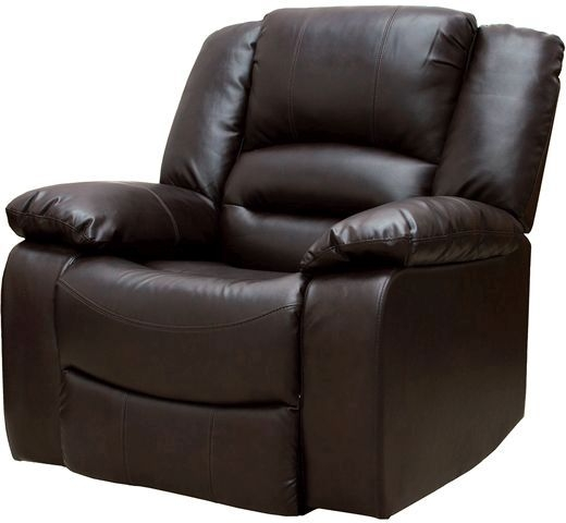 Vida Living Barletto Leather Recliner Armchair - Brown