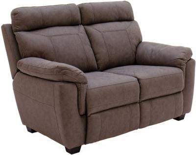Vida Living Baxter Brown Fabric 2 Seater Sofa