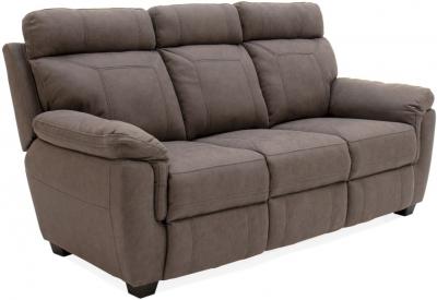 Vida Living Baxter Brown Fabric 3 Seater Sofa