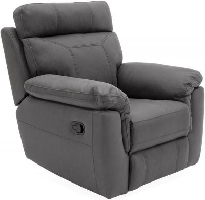 Vida Living Baxter Grey Fabric Recliner Armchair